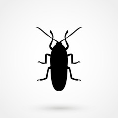 Cockroach icon, pest icon, vector illustration.