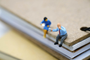 miniature people: businessman
