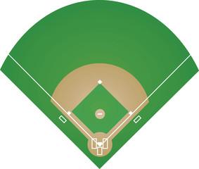 Baseball field. vector illustration