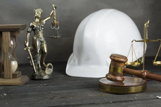 Law.. Helmet and Gavel