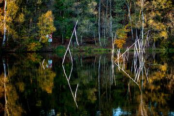Stellnetze auf Brandenburger Gewässern