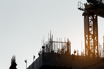 construction,silhouette,background