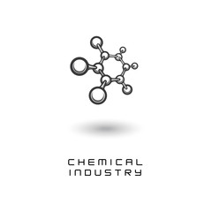 illustration depicting the chemical formula in the form of a symbol or logo