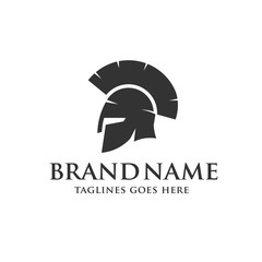Spartan helmet logo, Antiques Spartan warrior helmet vector design