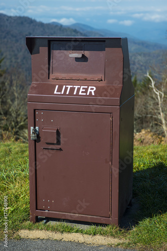 Garbage can heavy duty bear proof industrial waste bin