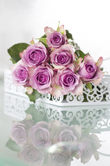 Purple Roses Bouquet