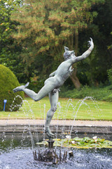 Statue of Mercury is the centrepiece of a water Fountain