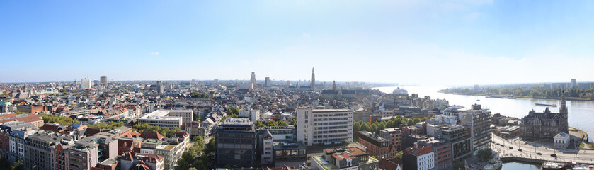 Photo sur Aluminium Antwerp Antwerpen Belgien Skyline Panorama