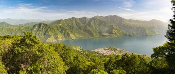 Panorama Of Lake Atitlan