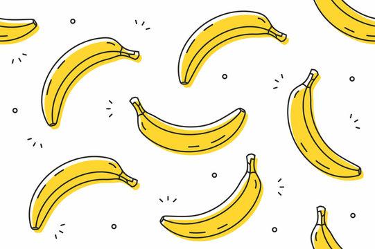 Bananas seamless pattern. Vector illustration