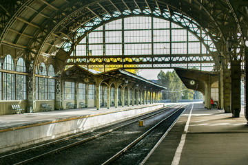 Aluminium Prints Train Station Vitebsky railway station