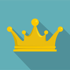 Crown icon, flat style