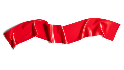 Red adhesive tape isolated on white background