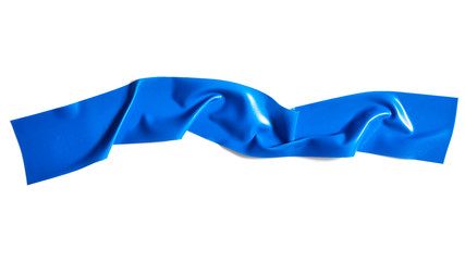 Blue scotch tape isolated on white background