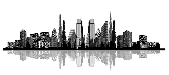 Silhouette of an abstract city