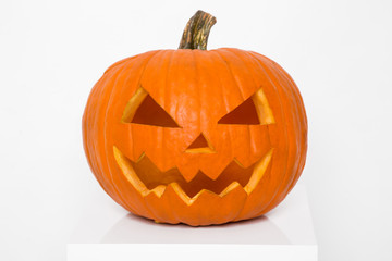 Pumpkin for Halloween on a white background