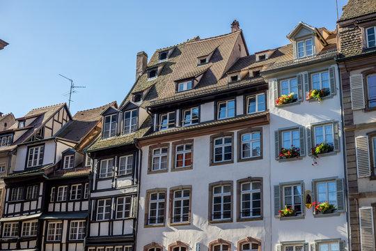 Alte Häuser in Straßburg an der Ill