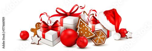 Weihnachtsgeschenke mit lebkuchen dekoration und for Dekoration nikolaus