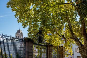 Zaun um den Palais Rohan in Straßburg