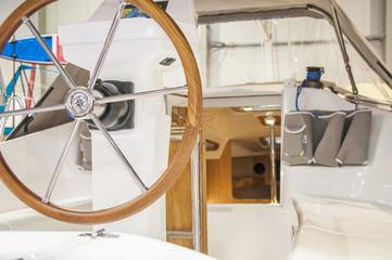 Steering of luxury yacht