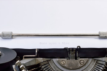 typewriter once upon a time