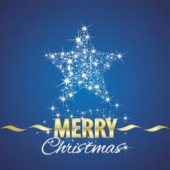 Christmas star symbol stardust blue background
