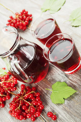 Medicinal drink fresh viburnum