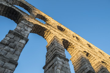 Roman Aqueduct of Segovia Spain