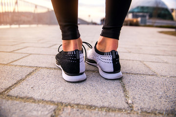 Legs of a jogging woman