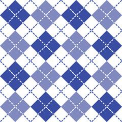 Blue Dashed Argyle Patten
