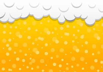 Beer texture with foam. Vector.