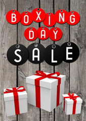 Boxing Day sale illustration
