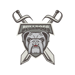 Bulldog mascot logo illustration