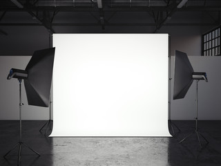 Small photostudio. 3d rendering