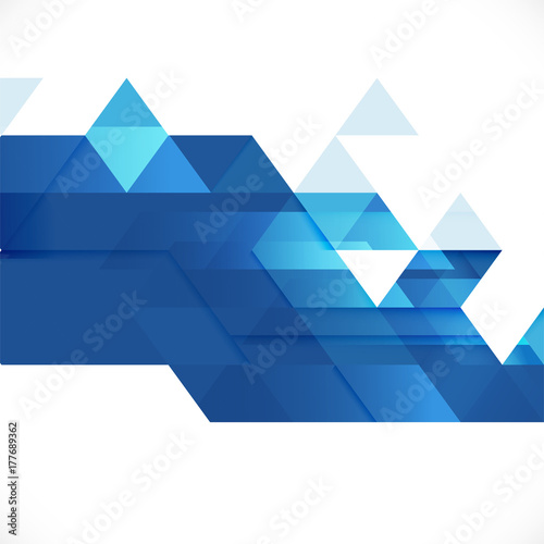 Abstract blue geometric layout template on white - Escuchar espacio en blanco online ...
