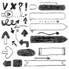 arrow ribbons graphics sketch objects