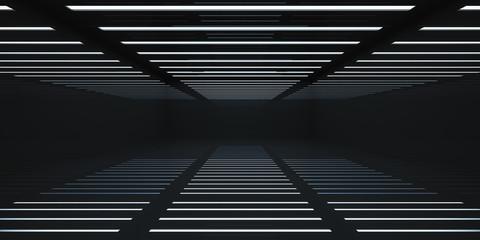 Modern black box room