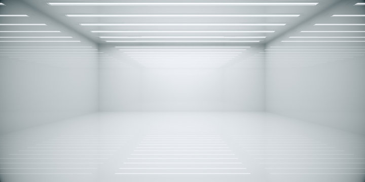 Abstract white box room