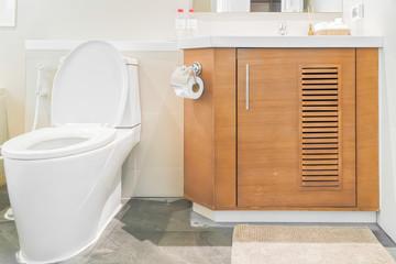 Water closet in bathroom