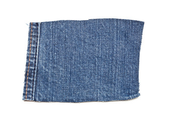 Blue denim cotton jeans patch