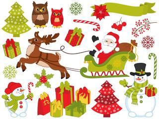Vector Christmas Elements Set