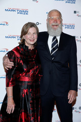 Comedian David Letterman and his wife Regina Lasko arrive for a gala where he is receiving the Mark Twain Prize for American Humor at Kennedy Center in Washington