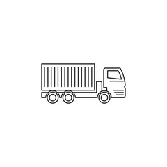lorry with a trailer icon