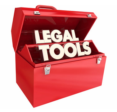 Legal Tools Law Toolbox Attorney Lawyer Resources 3d Illustration
