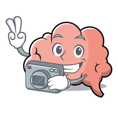 Photography brain character cartoon mascot
