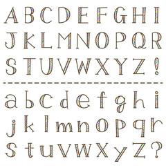 手書き風 アルファベット