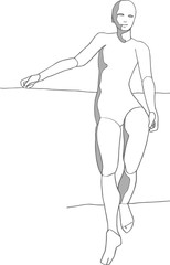 Standing pose artist reference, realistic figure drawing