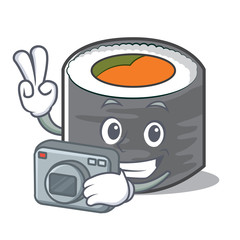 Photography sushi cartoon character style