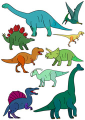 dinosaur elements set