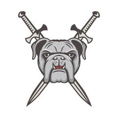 Bulldog mascot logo vector illustration